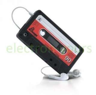 Black Cassette Tape Silicone Case Cover for iphone 4 4G