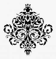 WALL DECOR DAMASK VINYL DECAL STICKER #1106 (Choose size and color