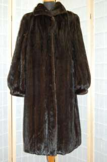 New Elegant American Ranch Black Mink Full Length Coat