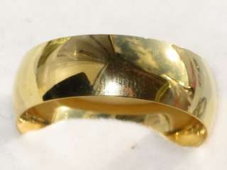 18KT YELLOW GOLD GPPLAIN WEDDING RING BAND STR194T WIDE 8MM