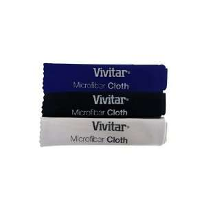 Vivitar 3 Pack Microfiber Cleaning Cloth Camera & Photo