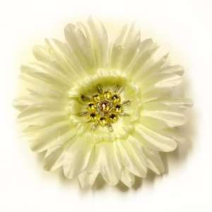 Gerber Daisy Rhinestones Fabric Flower Hair Clip & Pin Brooch F10981