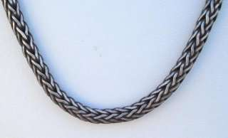 VINTAGE ANTIQUE ETHNIC TRIBAL OLD SILVER CHAIN NECKLACE