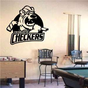 Wall Mural Vinyl Sticker Sports Logos Ahl charlotte Checkers (S450