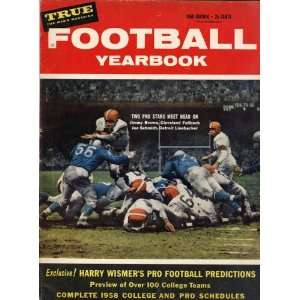 1958 Football Yearbook with James Jimmy Brown & Joe Schmidt