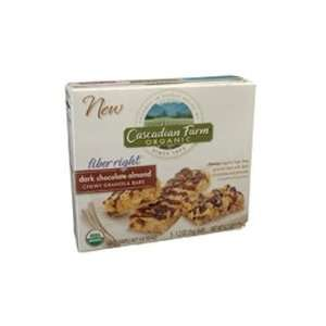 Cascadian Farms Org Dark Choc Almond Granola Bar ( 12x6.2 OZ)