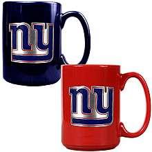Great American New York Giants Ceramic Logo Mug   Set of 2