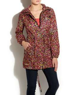 null (Multi Col) Red Disco Leah Parka  240294999  New Look