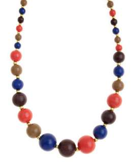 null (Multi Col) Wooden Bead Necklace  241704599  New Look