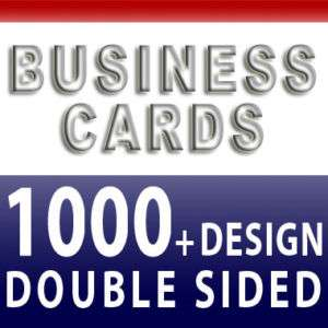 1000 Business Cards Color Printing + Custom Design Free