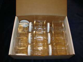 16 oz. Clear Plastic Grip Jars.Lot of (8).Clear box.