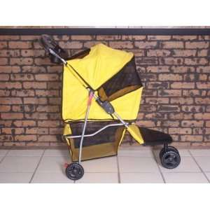 Pet Stroller Dog Cat Carrier Bed House BT3 Yellow