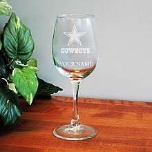 Boelter Dallas Cowboys Customized 12 oz Wine Glass