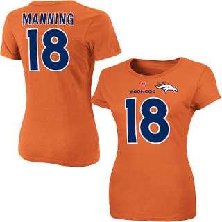 Denver Broncos Peyton Manning Womens Plus Size Name & Number T Shirt