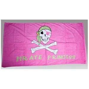 Jolly Roger Pirate Princess Pink Beach Towel Everything