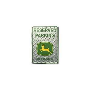 John Deere Diamond Plate Reserved Parking Metal Tractor