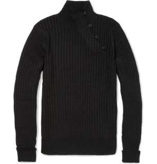 Ralph Lauren Black Label Chunky Linen and Cashmere Blend Sweater  MR