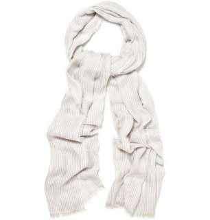 Scarves  Casual scarves  Silk blend Striped Scarf