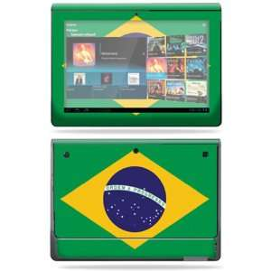 Vinyl Skin Decal Cover for Sony Tablet S Brazilian flag Electronics