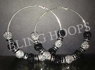 NEW Bling Hoops Rhinestone Earrings Basketball Wives Poparazzi FAST