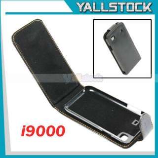 Black Leather Flip Case for Samsung Galaxy S i9000