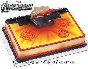 Iron Man Armored Avenger Assemble Cake Decoration Topper Set Kit Party