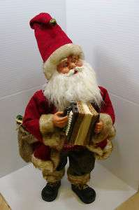 20 ANIMATED MUSICAL SANTA CLAUS PLAYING ACCORDION
