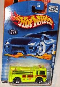 2001 HOT WHEELS #237 FL YELLOW FIRE EATER MIP 5H