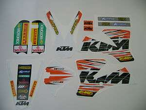 KTM SX 65 2008  WHITE GRAPHICS STICKERS DECAL KIT