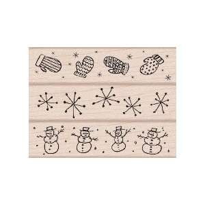 All About Winter Wood Mounted Rubber Stamp Set (LL224