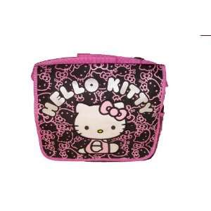 HELLO KITTY MESSENGER BAG   Black with Pink Glitter  Toys & Games