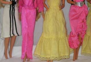 1970s/80s MATTEL BARBIE FANTASTIC LOT OF 8 DOLLS WITH CLOTHING