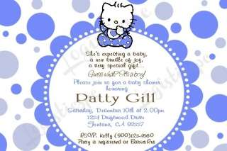 Kitty Baby Shower Invitation U Print / Printed   6 Different Designs