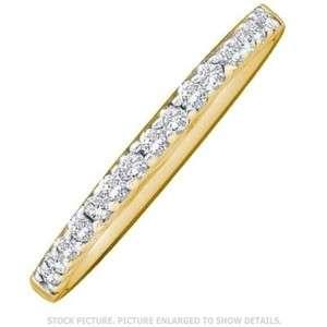 14KT LADIES YELLOW GOLD BRILLIANT CUT DIAMOND WEDDING ANNIVERSARY RING