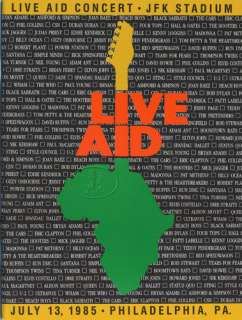 LIVE AID 1985 Tour Concert Program Book MADONNA DYLAN