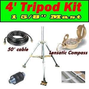 Portable RV Satellite Tripod Kit, Cable Dish Network