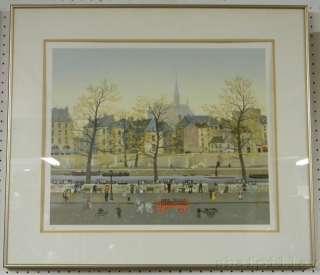 Michel Delacroix Ltd Ed #96 Print Paris Street Scene