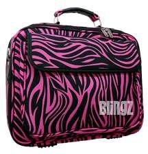 Pink Black Zebra Print Laptop Bag Case Dell Computer