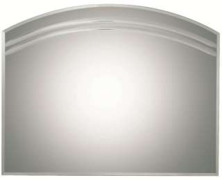 Arched Multi Bevel Frameless Wall Mirror Contemporary