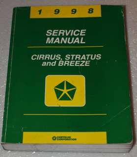 1998 DODGE STRATUS CIRRUS BREEZE Service Repair Manual