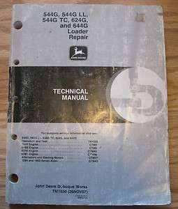 John Deere 544G 544G LL 544G TC 644G Loader Technical Repair Service
