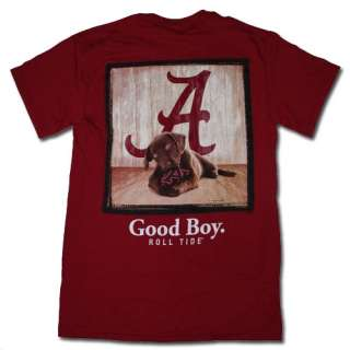 Alabama Crimson Tide T Shirt   Mans Best Friend   Good Boy   Color Is