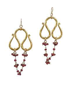 Devon Leigh Ruby Drop Earrings