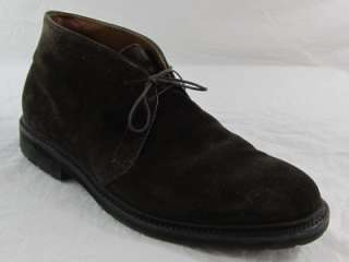 Alden Mens Chukka Dark Brown Suede Boots Size 10.5E Retail $424