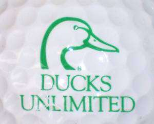 DUCKS UNLIMITED LOGO GOLF BALL BALLS