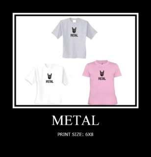 METAL HAND SIGN GIFT HUMOR FUNNY TEEN HEAVY METAL MUSIC NOVELTY T