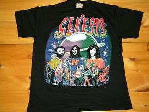 Vintage Rock Band T Shirt Sz Med GENESIS Deadstock