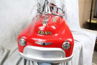 VINTAGE CLASSIC FIRE FIGHTER ENGINE NO. 23 PEDAL CAR FIRETRUCK