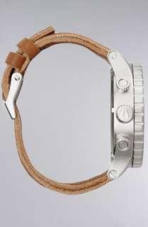 Nixon The 5130 Chrono Leather Watch in Black Saddle  Karmaloop