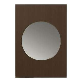 Porcher Tetsu 33 In. X 23 In. Framed Wall Mirror in Wenge DISCONTINUED